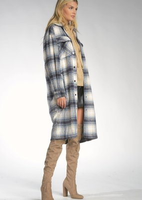 Jacket long plaid