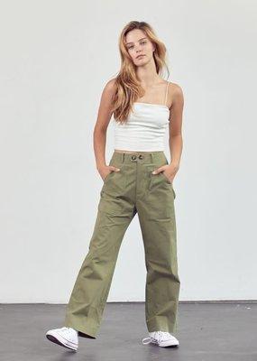 stardust Slant Hip Pockets Straight Leg Pants