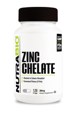 NutraBio Chelated Zinc 30mg