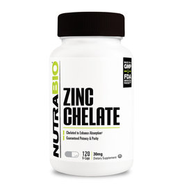 NutraBio Chelated Zinc 30mg