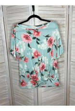 American Chic Mint Floral Tunic