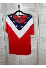 BiBi BiBi Patriotic Chevron Tunic