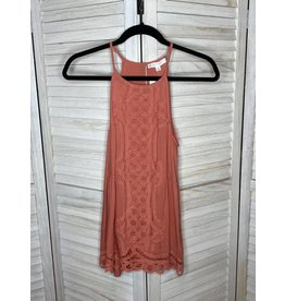 FSL Apparel Salmon Crochet Halter Top