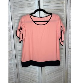 Les Amis Light Pink Top with Black Trim and Bottom