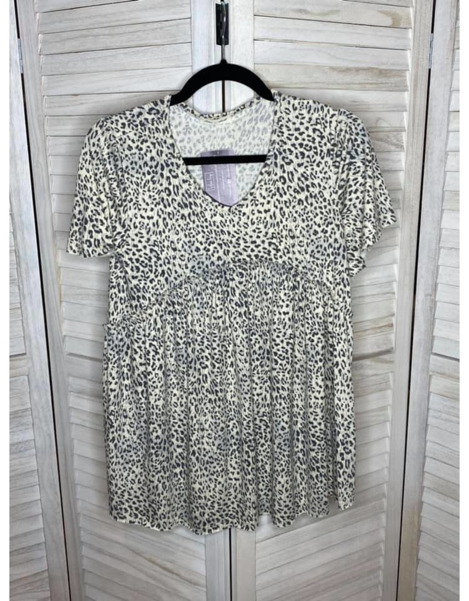 Lime n Chili Animal Print Jersey Knit V-Neck Empire Waist Top