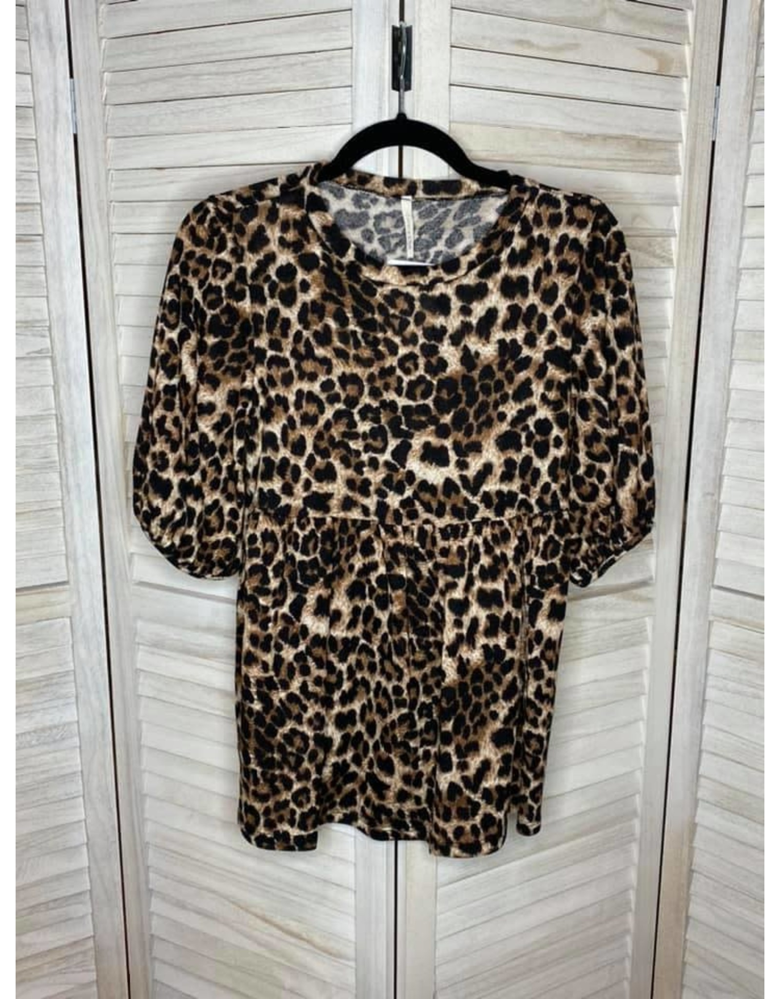 Lime n Chili Animal Print Balloon Sleeve Top