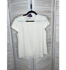 Westmoon Cream Capped Sleeve Top