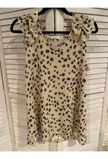 BiBi Animal Print Beige with Ruffle at Short Sleeve