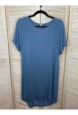 Beeson River Blue Raglan  Ruffle Sleeve Dress with Round Hem