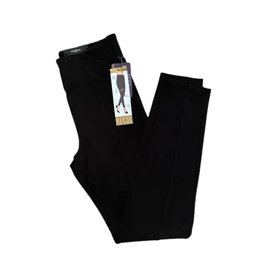 """Liverpool Reese Seamed Pull On Ponte Knit Pants 28"""" Black"""