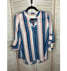 PS Kate Blue and Pink Stripe Tunic