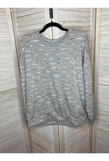 PS Kate Heather Gray Striped Sweatshirt