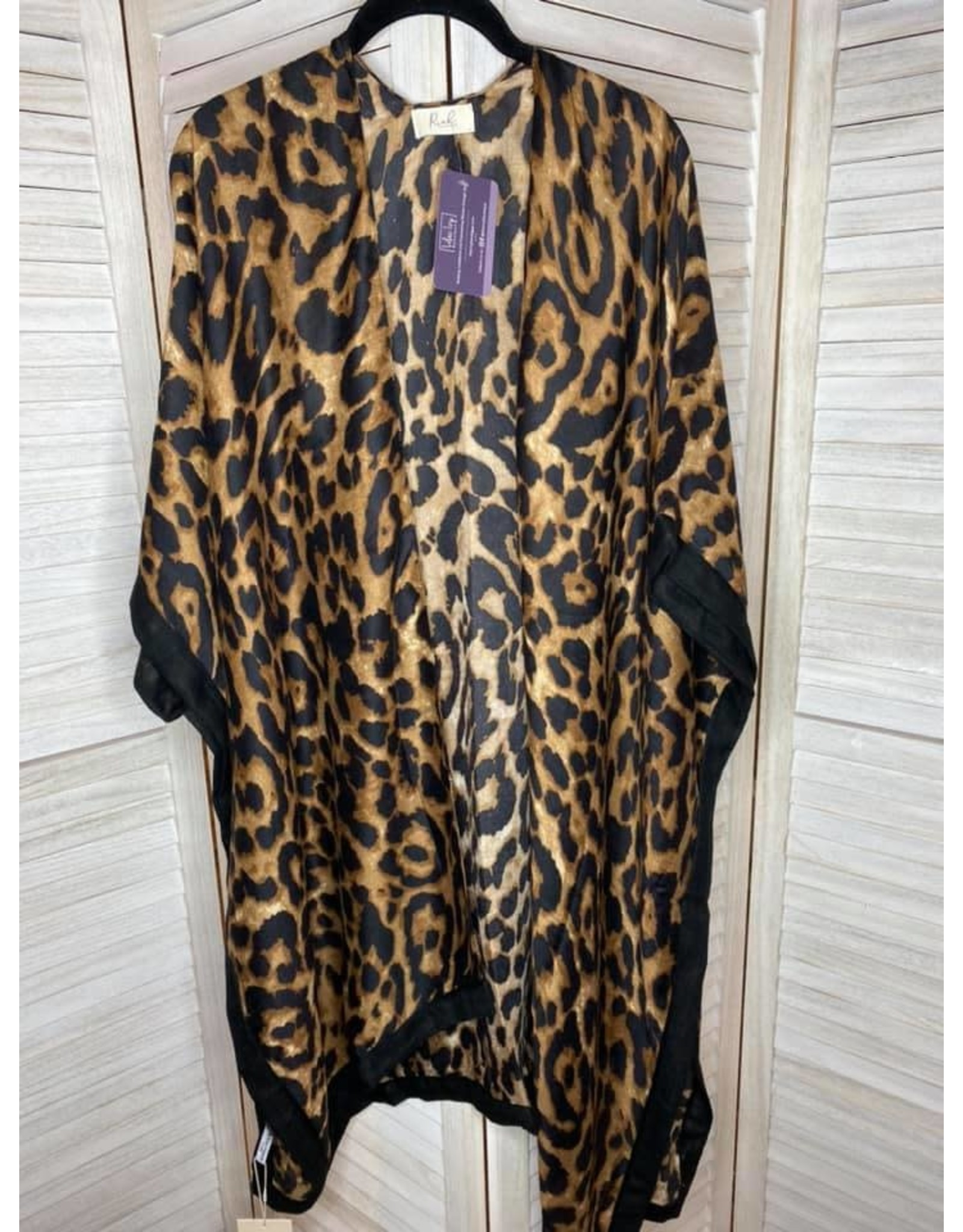 MYS Wholesale Leopard Open Front Kimono