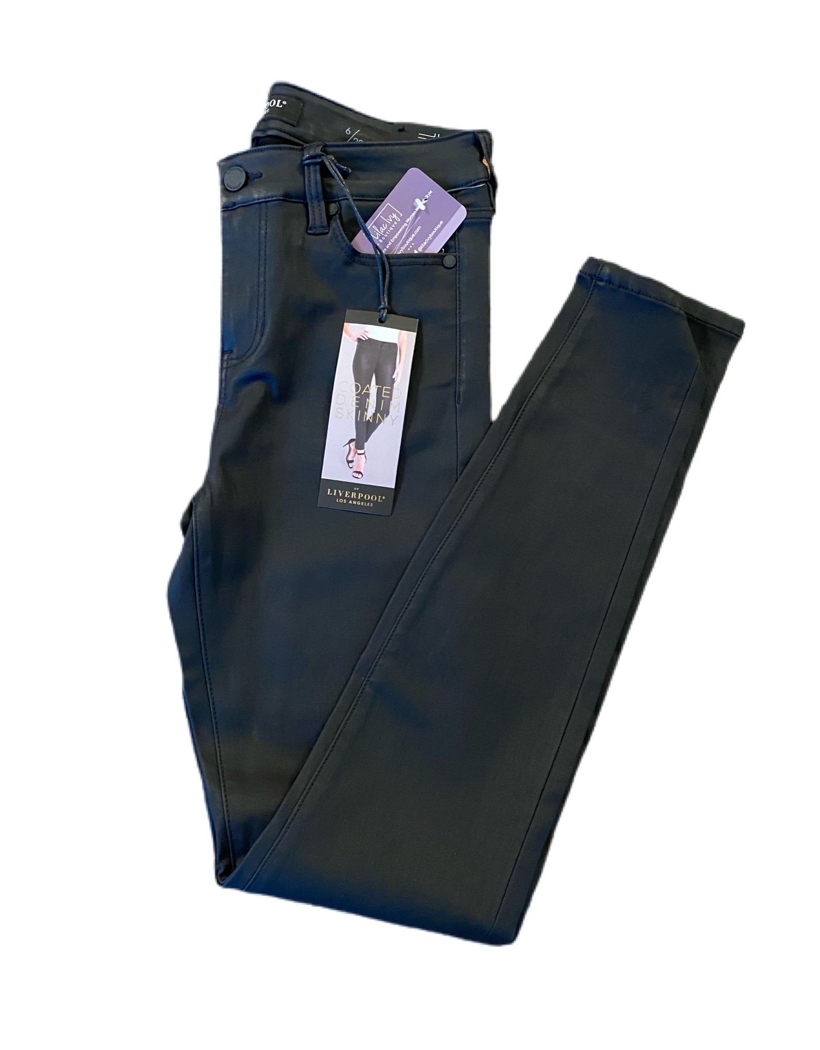 Liverpool Abby Skinny Black Coated Liverpool