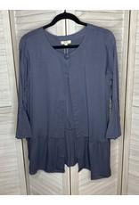 Kori America Soft Flounce Tucked Sleeve Jacket