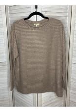 Kori America Mock Neck Dolman  Sweater Tan