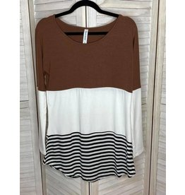 Zenana Color Block Tunic