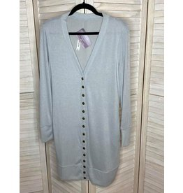 Zenana Snap Front Cardigan Lt Grey