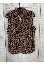 Heimish Animal Print Faux Fur Vest