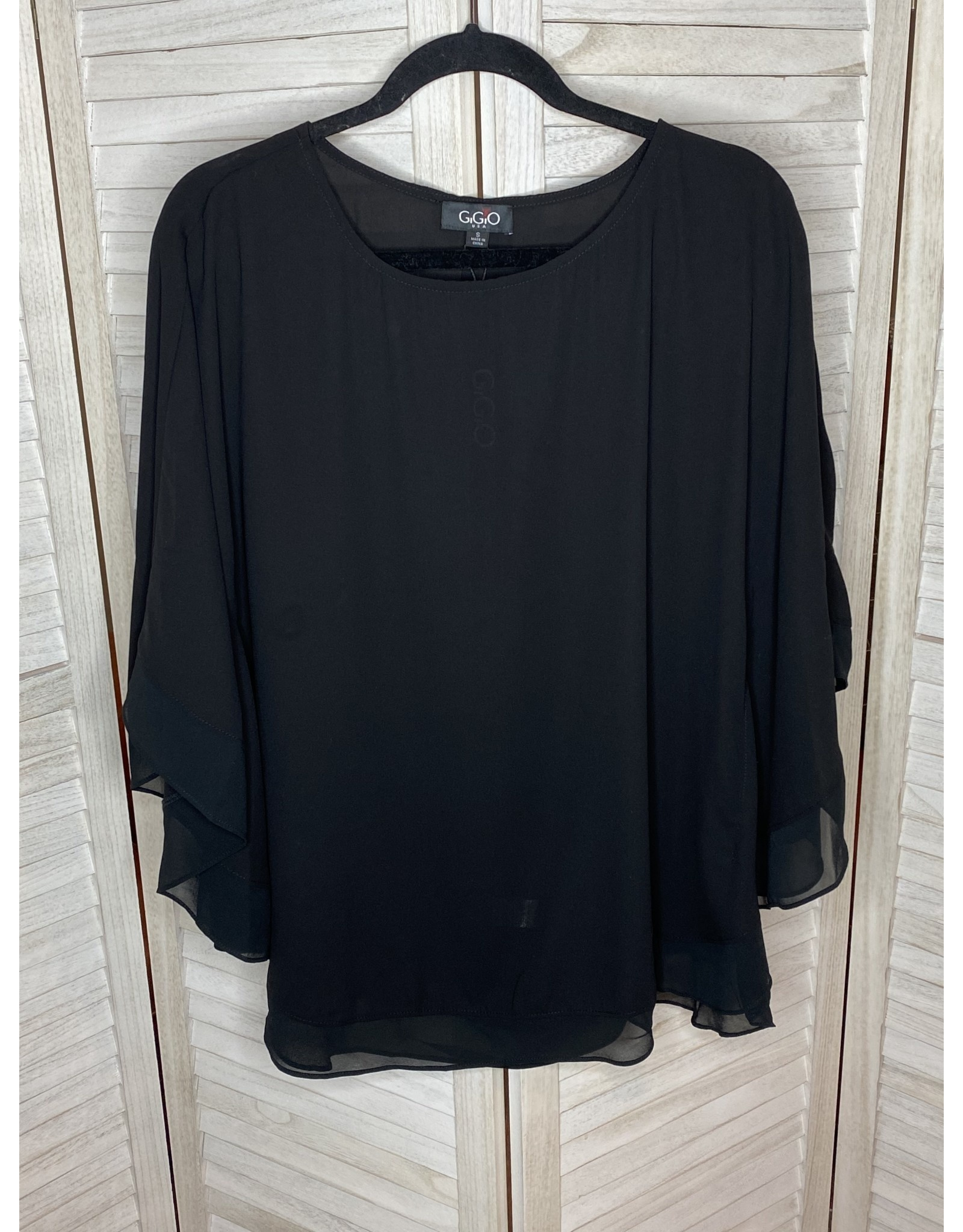 Gigio Sheer Flowing Cape Top