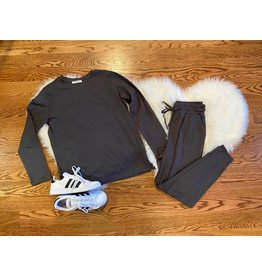 Zenana Jogger Set Ash Gray
