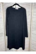 Zenana Long Sleeve Flare Dress Black