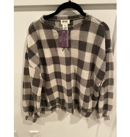 BiBi Brushed Check Plaid Pull Over