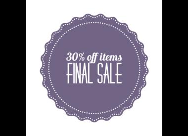 30% Off Sale Items - Final Sale!