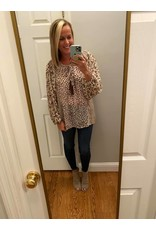 Gigio Animal And Paisley Mixed Peasant Top