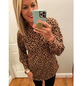 Bom Bom Long Sleeve Animal Print Tunic