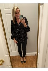 Shewin Heart Polka Dot Black Tunic