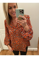 Shewin Orange animal print tunic