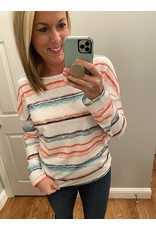 Adele B. Multi Color Stripe Long Sleeve Top