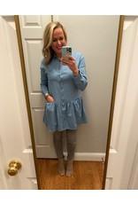 Vine & Love Long Sleeve Denim Dress