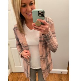 Red Lolly Waffle plaid cardigan