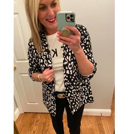 Andre by Unit Animal Print Boyfriend Jacket