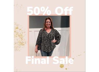50% Off Sale Items - Final Sale!