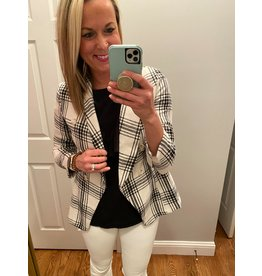 Lily Clothing Double Breast Jacket Black White Check