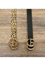 i.cco Faux Leather Belt Animal Print