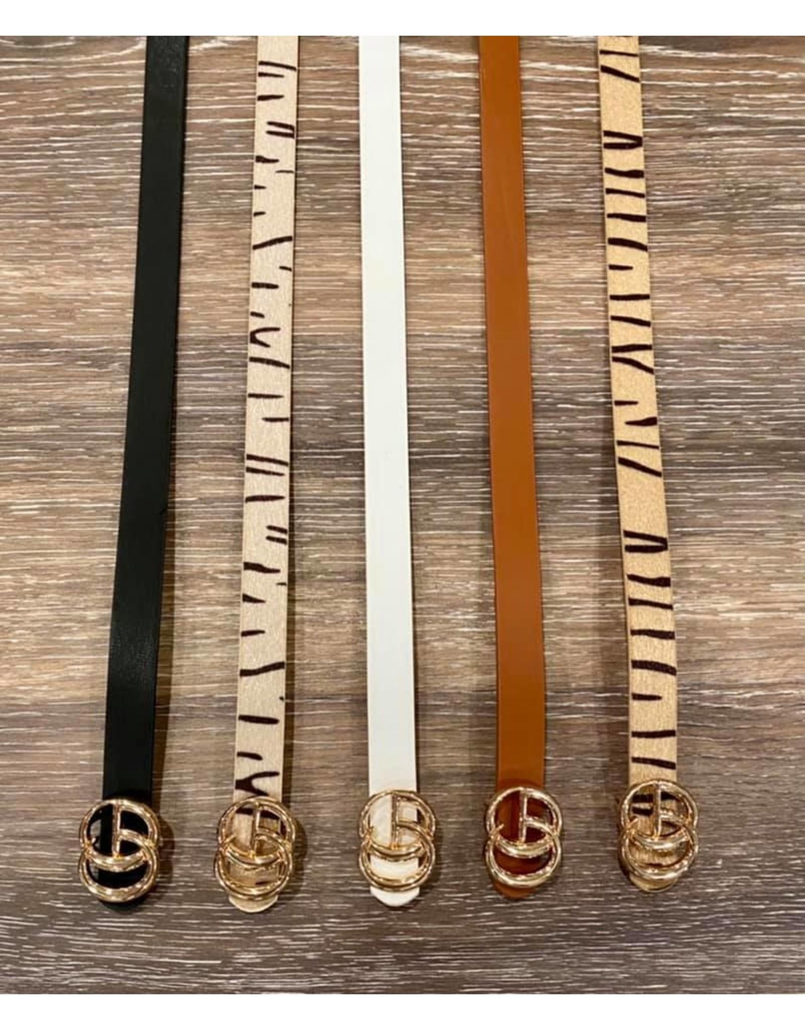 i.cco Beige Skinny Belt