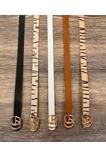 i.cco Black Skinny Belt