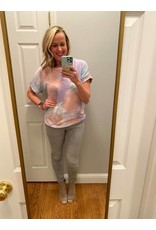 Staccato Round Neck Loose Fit Tie Dye Top