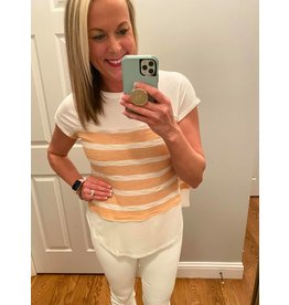 Urban Chic Drop Shoulder Tunic With Stripe Contrast