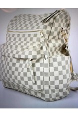 Shewin Checkered Back Pack - White or Brown