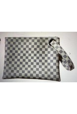 Shewin Checkered Clutch Bag - White or Brown