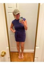 Adele B. Round Neck Short Sleeve Bandage Dress