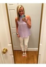 Vine & Love Halter Top With Smocked Neck Lavender