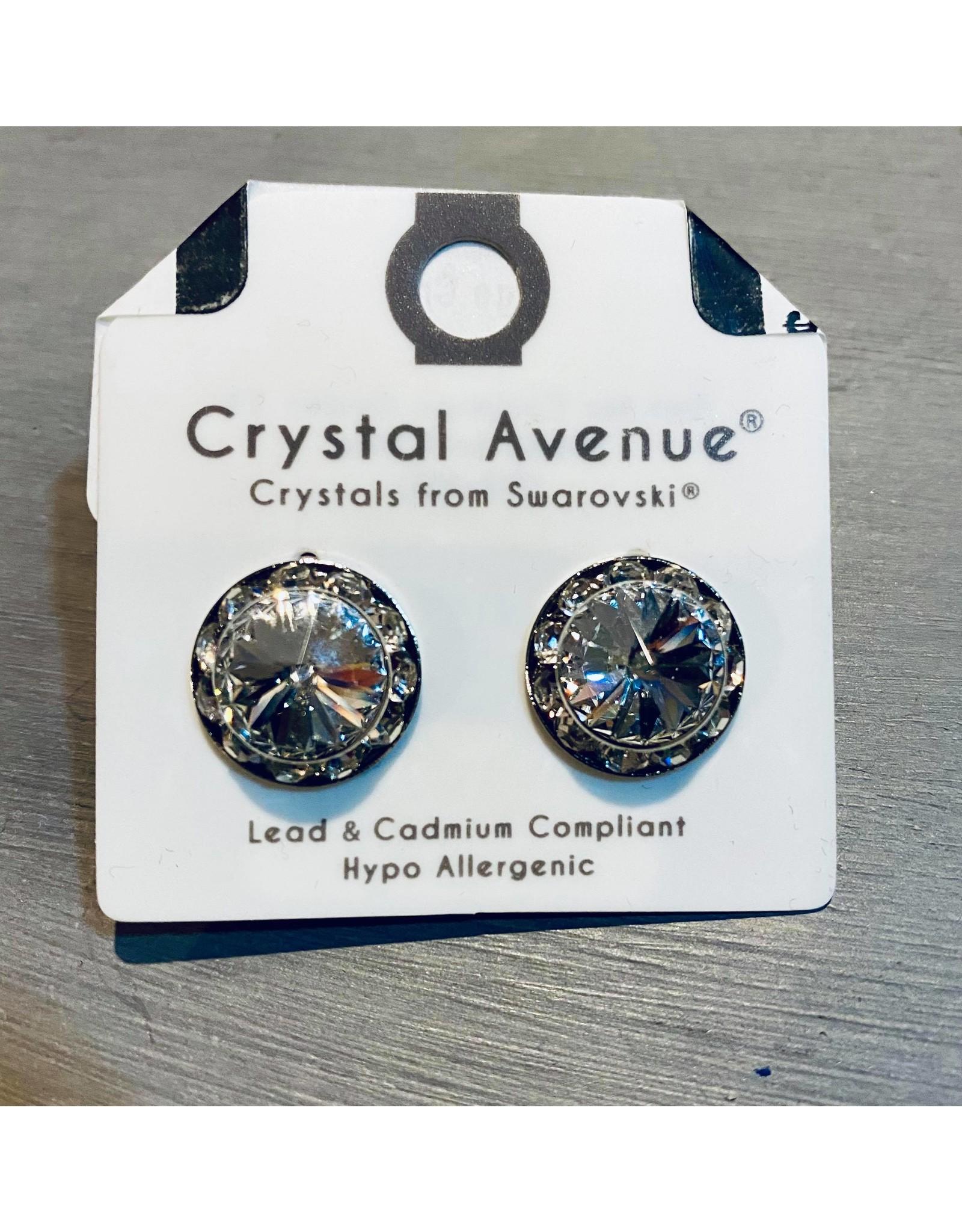 Hongs Large Crystal Earrings