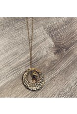 Hongs Long Gold Necklace With Circle