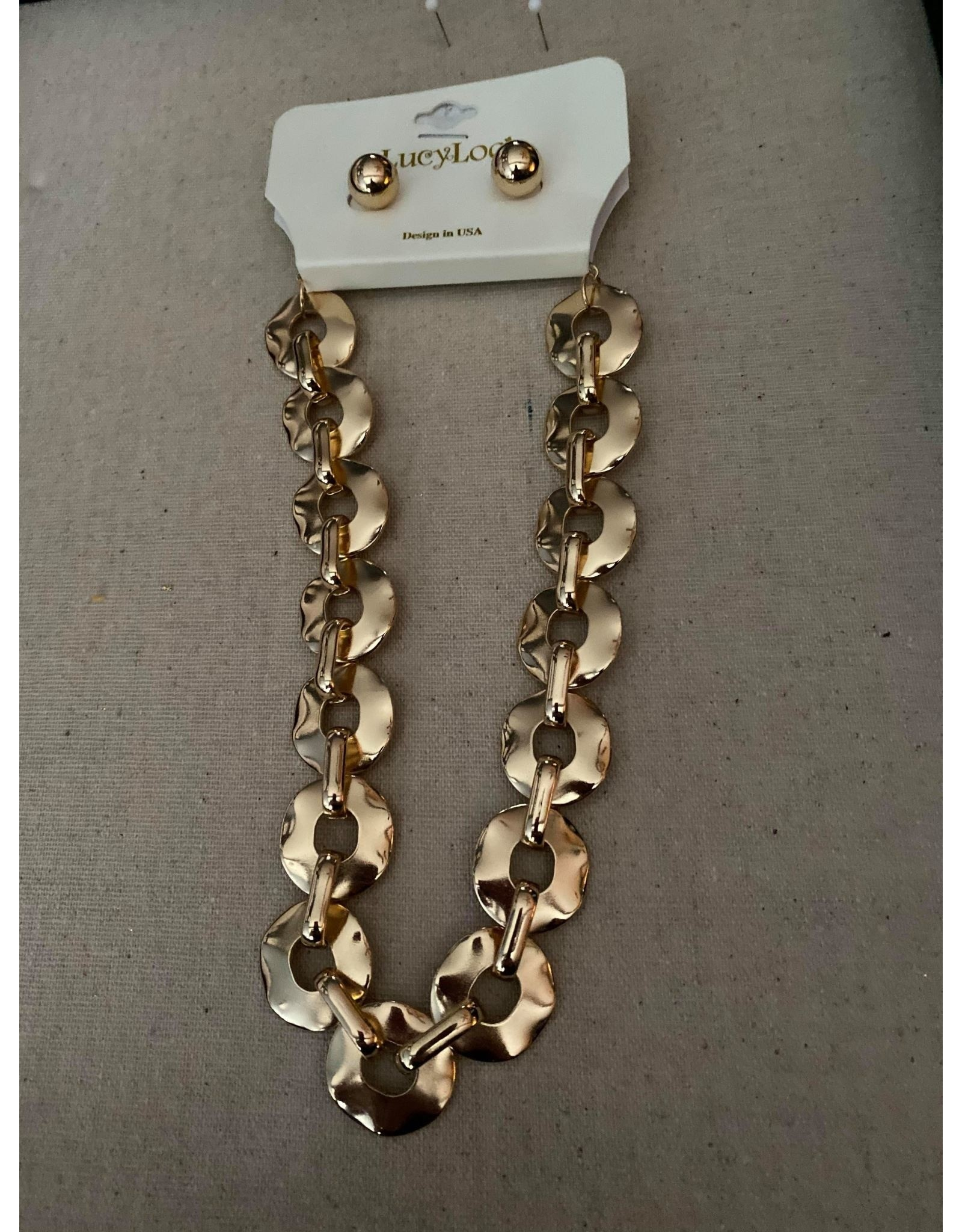 LA Jewelry Gold Link Necklace